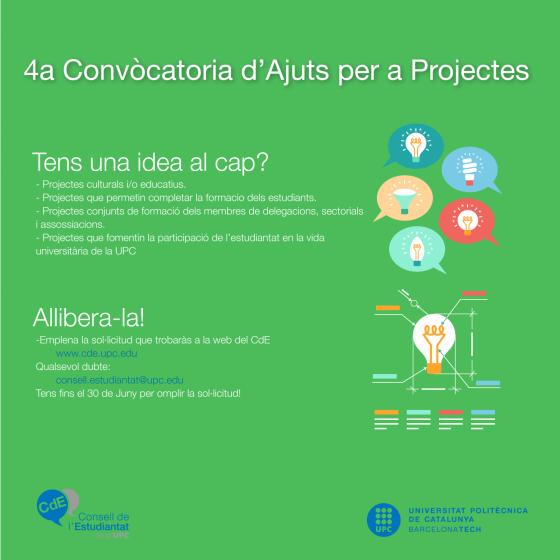 Convocatòria d'Ajuts a Projectes 2017